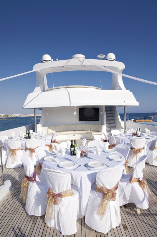get married and have the reception on a yacht