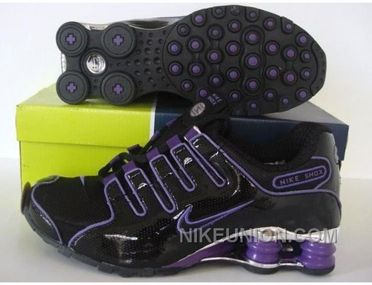 Find this Pin and more on Womens Nike Shox. black and purple ...