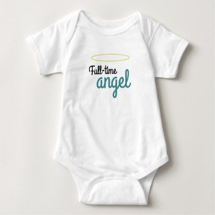 Full-time angel baby bodysuit - baby gifts giftidea diy unique cute