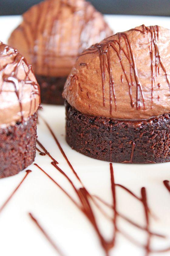 Chokoladekage med whiskymousse