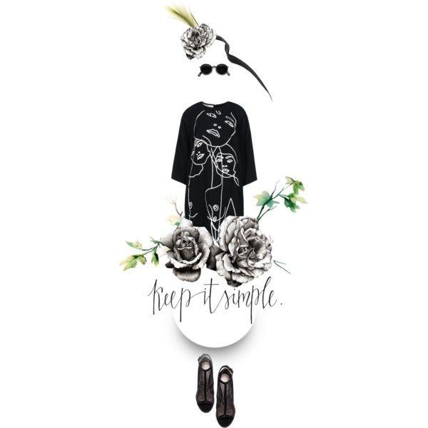 """black & white"" by essenceve on Polyvore"