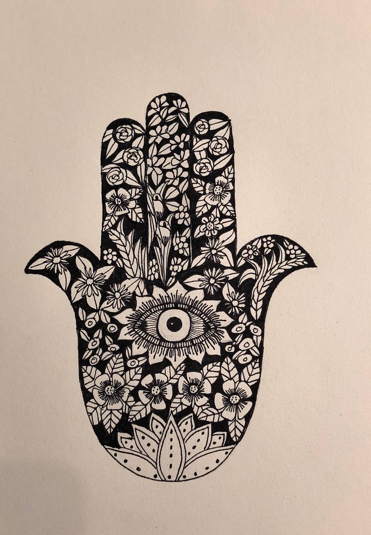 A personal favourite from my Etsy shop https://www.etsy.com/au/listing/593232461/hamsa-hand-ink-drawing-wall-art-print-of