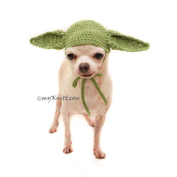 Yoda Hat for Dog Cat, STAR WARS YODA Inspired Dog Costume, Chihuahua ...