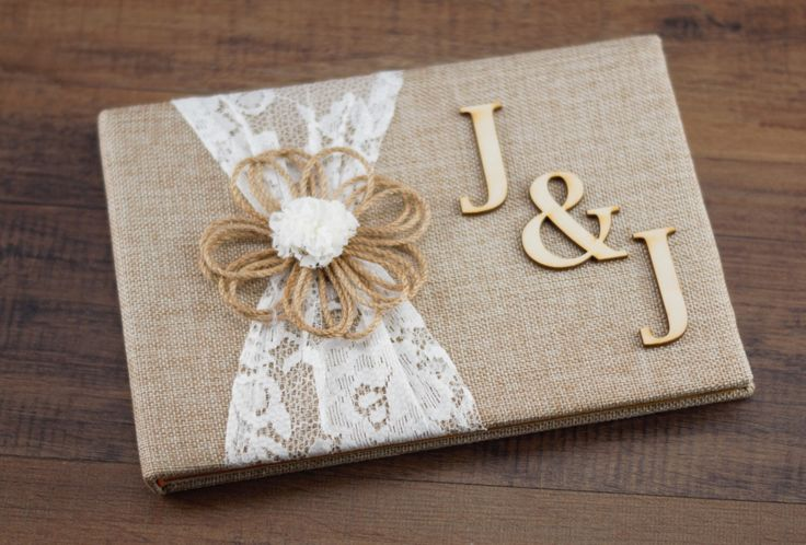 Rustic guest Book, Burlap & Lace Guest book, Burlap Guest Book, Rustic Wedding Guest Book, Personalized Guest Book, Wedding Guest Book by RiversideBridal77 on Etsy https://www.etsy.com/listing/267968861/rustic-guest-book-burlap-lace-guest-book