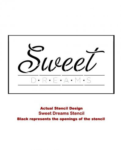 Cutting Edge Stencils - Sweet Dreams Quote Wall Stencil