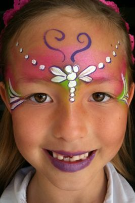 easy cheek painting ideas for kids - Google Search