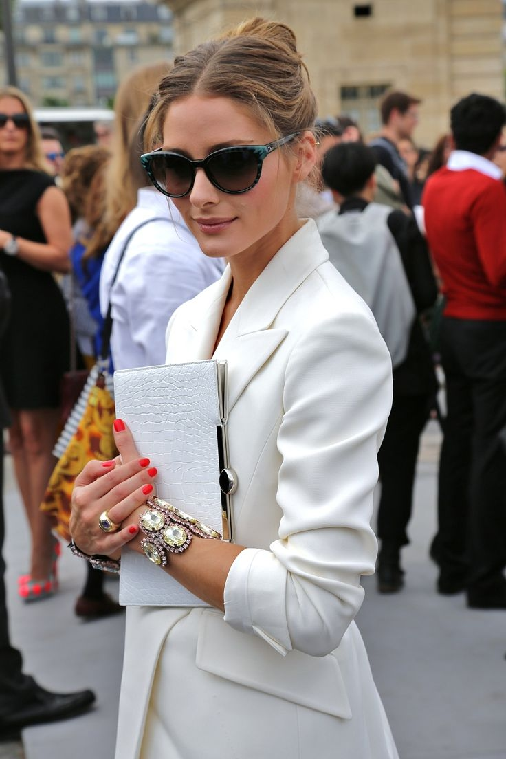 Love this look. You don't have to wear something under a jacket. Sometimes less is more.