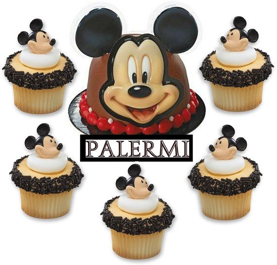 Mickey Mouse Cake Topper and 12 Cupcake Topper Kit $13