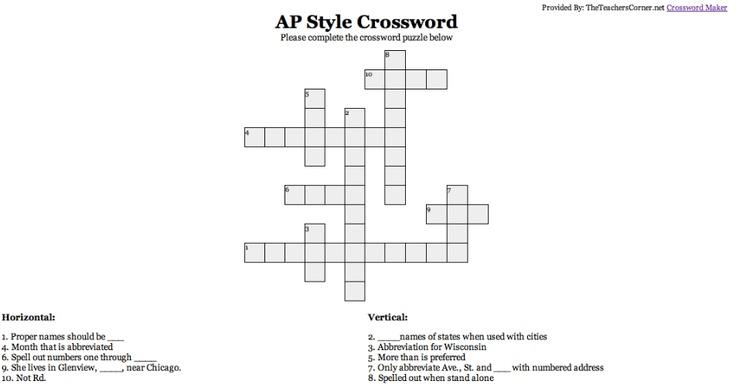 Ap Crossword Public Relations Crossword Helping People