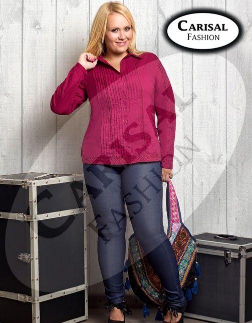 Leggings vaqueros elásticos de Carisal Fashion. Disponibles en tallas 44 a 52. www.monanva.com