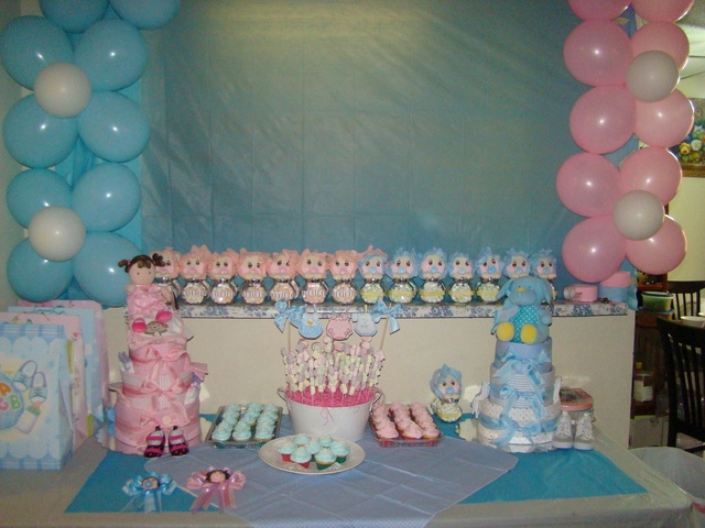113 best Twins Boy and Girl Baby Shower images on Pinterest Baby