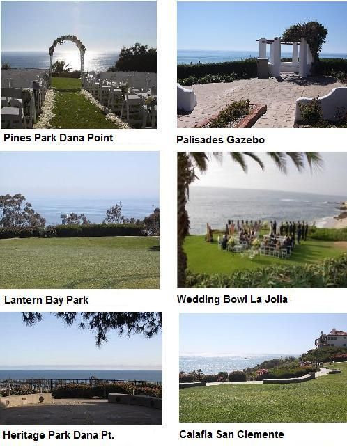 Dana Point and La Jolla Wedding Bowl And Ocean Parks
