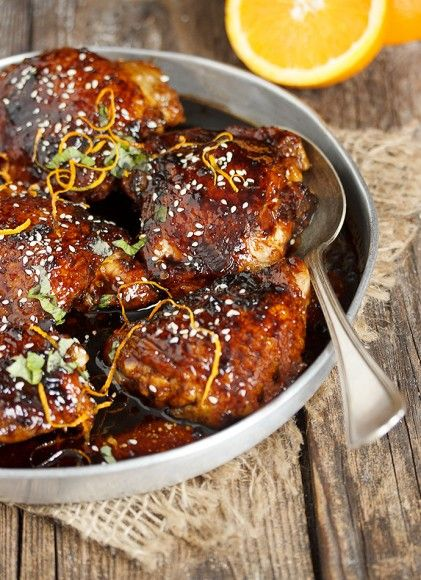 Asian Sweet and Spicy Sticky Chicken Thighs recipe