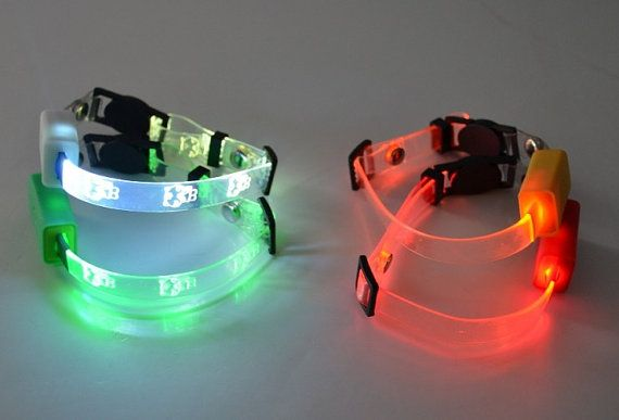 Optical Fiber LED Cat collar Glow in the dark by SolarFusion