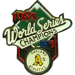 Oakland A's Pin 1989 World Series Champs