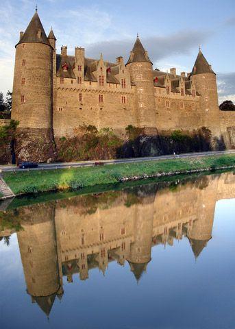 Chateaux Josselin , situé sur la commune deJosselin, département du Morbihan en Bretagne, France