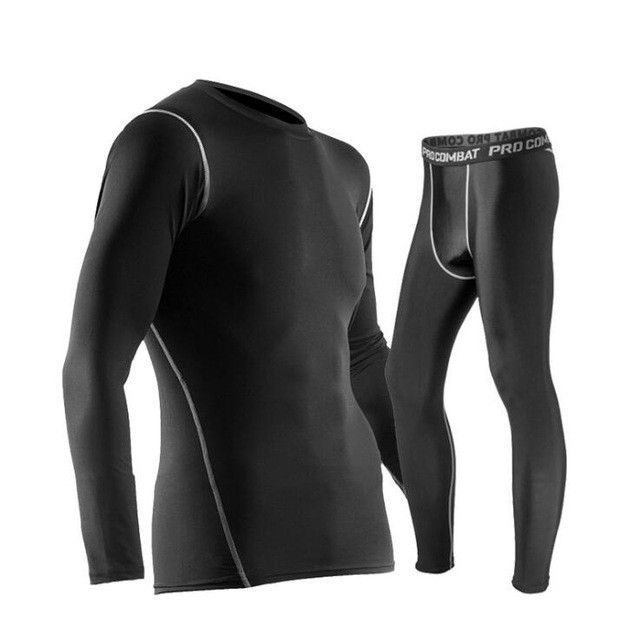 Men Sports Long Sleeved Trousers Suit Training Fitness for Track Field