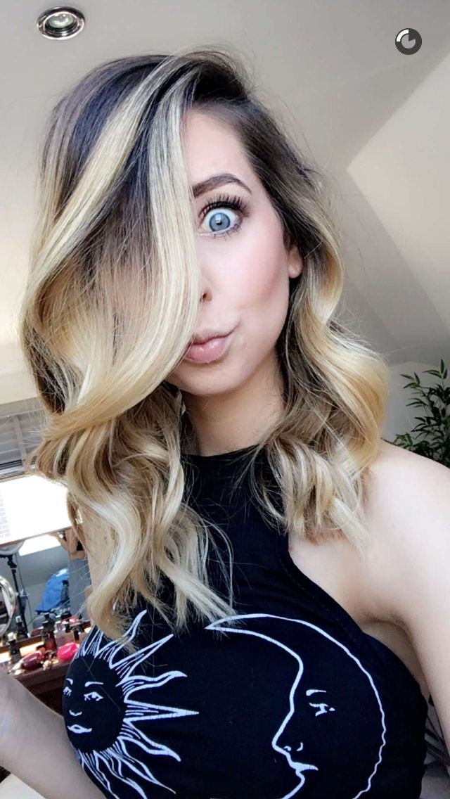 Snapchat Screenshot - Zoe Sugg (OfficialZoella)  Love the hair!