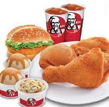 Kentucky Fried Chicken Menu with prices, KFC menu 2016