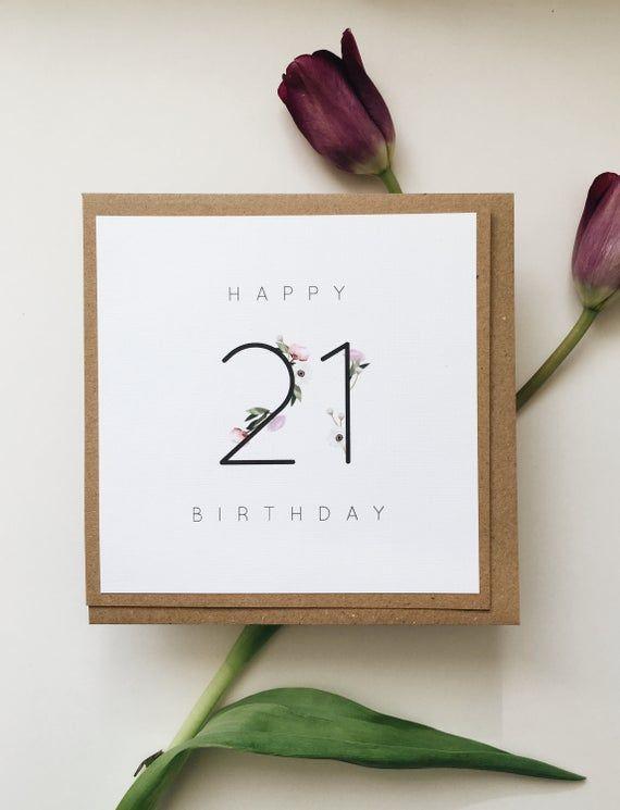 21st Birthday Card Birthday Cards In The Uk Birthday Cards Etsy In 2021 21st Birthday Cards Diy 21st Birthday Cards Birthday Cards For Girlfriend