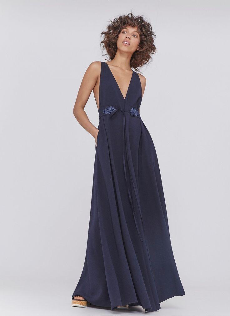 Vestido largo con espalada al aire vestidos adolfo for Vestidos adolfo dominguez u