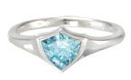 Azure Stone Shield CTR Ring - without the CTR. Awsome LDS Gift for Christmas or anytime.  BuyLDS.com