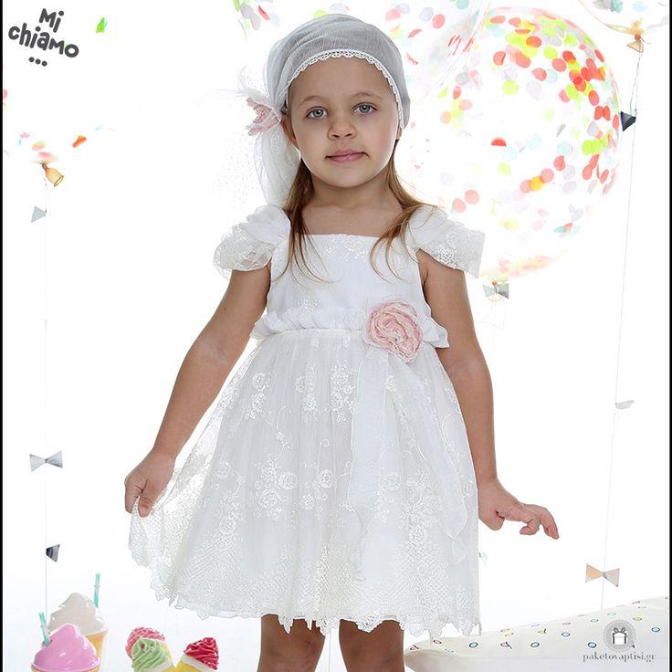 Φόρεμα Βάπτισης από Ιβουάρ Δαντέλα με Διακοσμητικό Λουλούδι Mi Chiamo Κ4024-16663 https://www.paketovaptisi.gr/christening-packages-girl/christening-clothes-girl/sum-spri/product/2324-16663.html Βαπτιστικό φόρεμα από τη νέα collection της εταιρείας Mi Chiamo κατασκευασμένο από δαντέλα σε ιβουάρ χρώμα με διακοσμητικό λουλούδι. Το σύνολο συνοδεύεται από καπέλο ή κορδέλα ή στέκα το οποίο συμπεριλαμβάνεται στην τιμή. Συνδυάζεται προαιρετικά με ασορτί ζακετάκι. #MiChiamo #φορεμα #βαπτιση…