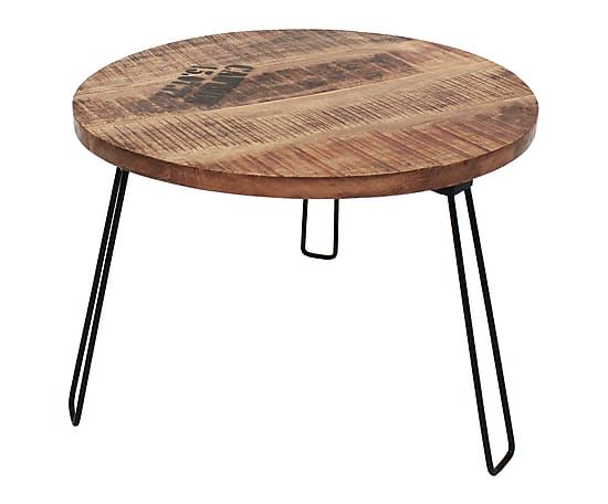 Table basse FACTORY, noir et neutre laqué - Ø70