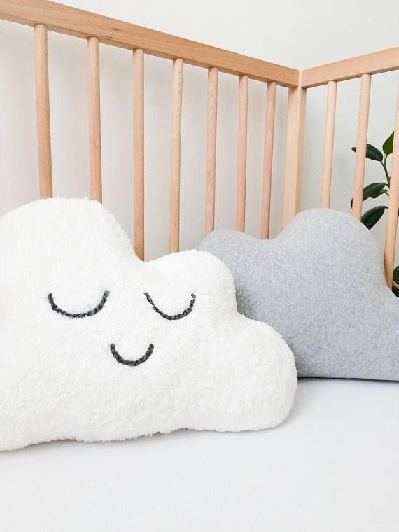 Neutral Nursery Decor Ideas Cloud Pillow