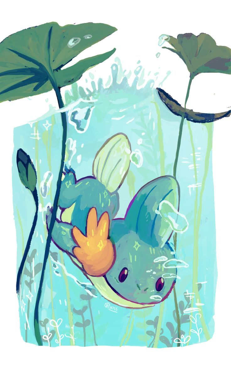 """krithidraws: """" A mudkip for @odoh! """""""