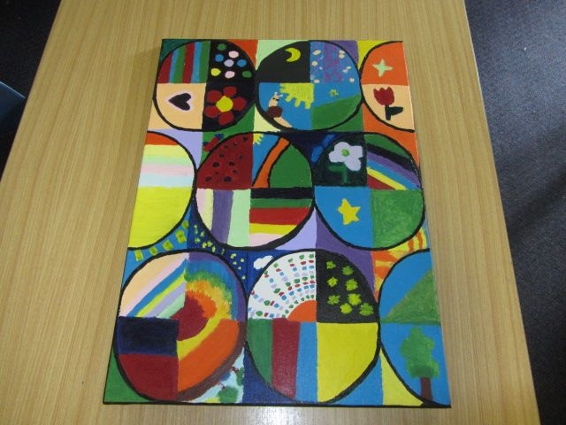 Class art - each student received a square to decorate.