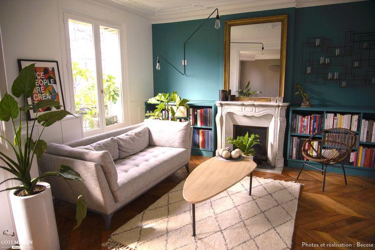 Tropical-Chic : rénovation d'un appartement parisien de 75m², Becose - Côté Maison
