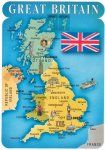 Carte du Royaume Uni et de la Grande-Bretagne - JPEG - 323.9 ko