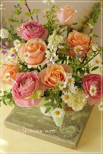 【今日の贈花】退職の祝花をご自宅へお届け。|Flower note の 花日記 (横浜・上大岡 アレンジメント教室)
