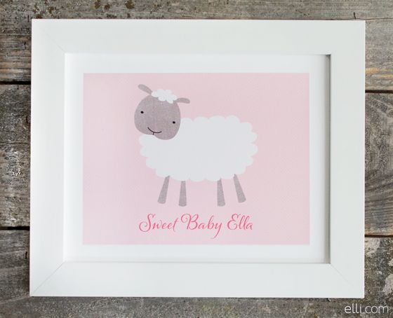 For the Nursery: Personalized Baby Art Prints