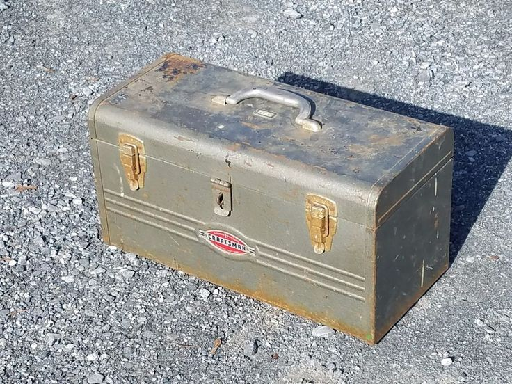 Vintage Sears Craftsman Tool Box Tray Gray Metal Craft Chest 6512 1940s 1950s