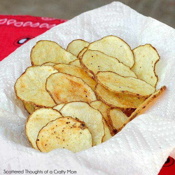 Microwave Potato Chips - I just made these and all I can say is O.M.G!!!! I LOVE potato chips and have been sceptical of a microwave chip but these are absolutely delicious!!!! Light & crispy every time!