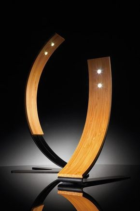 These curved bamboo lamps can add a contemporary flare to a room while still maintaining warmth and comfort with the use of natural wood and curved lines