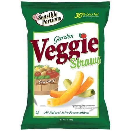 Sensible Portions Garden Veggie Straws Snacks With Sea Salt. High sals.