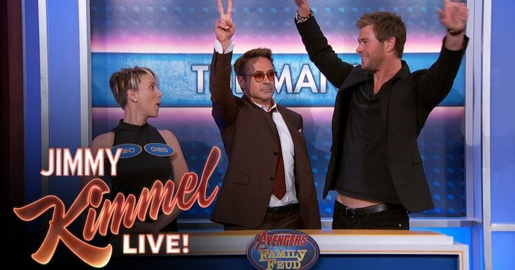 Watch 'Avengers 2' Cast Play Family Feud on 'Jimmy Kimmel Live' -- 'Avengers 2' cast played 'Family Feud' and discussed fan art in clips from last night's 'Jimmy Kimmel Live', along two new clips. -- http://www.movieweb.com/avengers-2-age-ultron-cast-jimmy-kimmel-live