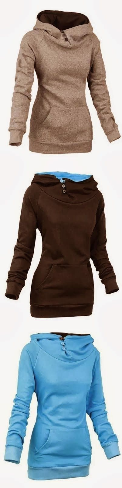 3 Colors Adorable Women Hoodie