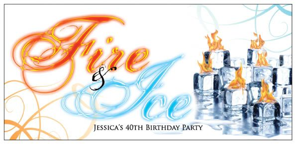 fire and ice invitations | Fire and ice themed ...