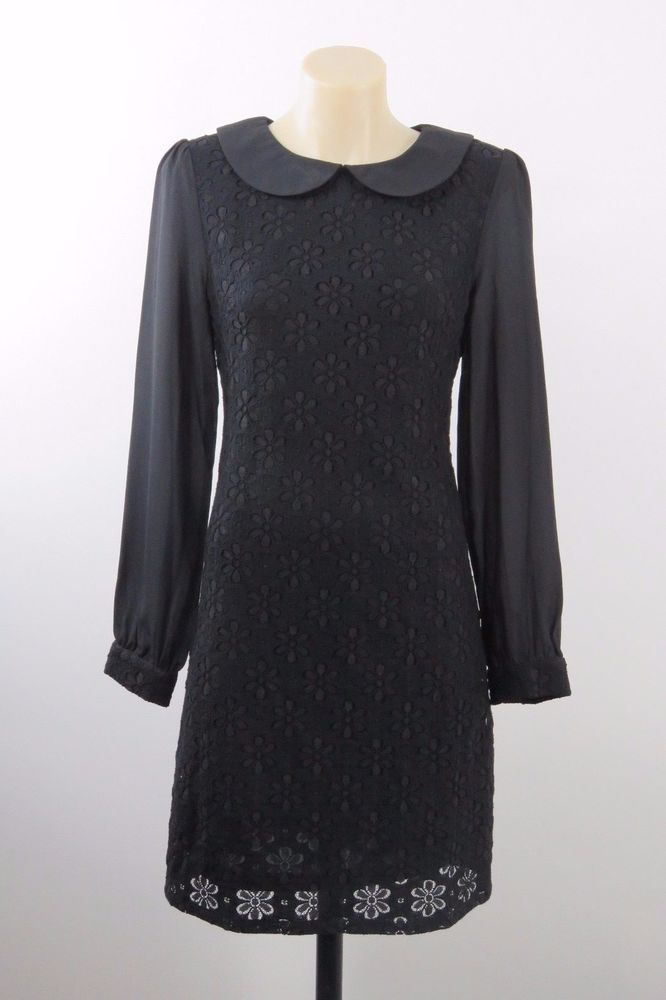 NWOT Size XS 8 Revival Ladies Black Dress Retro Chic Corporate Cocktail Design #Revival #Shift #Cocktail