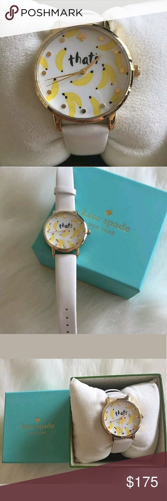 Brand NWT Kate's Spade  Banana Watch Brand NWT Kate's Spade  Banana Watch   Firm price firm price firm price  $175.00 . AUTHENTIC WATCH  . AUTHENTIC BOX  . AUTHENTIC MANUAL    SHIPPING  PLEASE ALLOW FEW BUSINESS DAYS FOR ME TO SHIPPED IT OFF.I HAVE TO GET IT FROM MY STORE.   THANK YOU FOR YOUR UNDERSTANDING. kate spade Accessories Watches