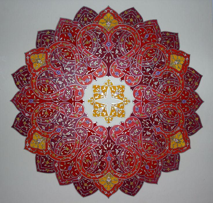 "Persian Illuminations (Tazhib) artwork by Mojgan Lisar: Shamseh "" strengh """