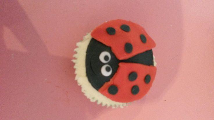 Lovable little lady bug cupcakes
