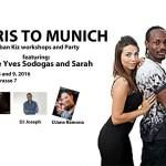 Paris to Munich  One of Uban Kizs smoothest dancers Pierre Yves and Sarah from Paris are coming to Munich. Come join us for four hours of Workshops and an awesome Party on saturday october 9 with DJ Saul DJane Ramon and DJ Joseph. Plus a list of good Taxi Dancers! To book a place for the workshop contact []  Mehr Salsa Bachata Kizomba Informationen auf salsastisch.de.