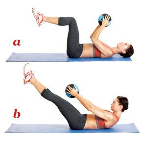 Pilates Exercises for a Tighter Tummy. I do this every other day and after having 3 boys, can say this is truly working. I have done this for a month and lost 2 inches off my waist. I'm now in a size 8 and still shrinking. I use a 8 lb medicine ball and love it!!!