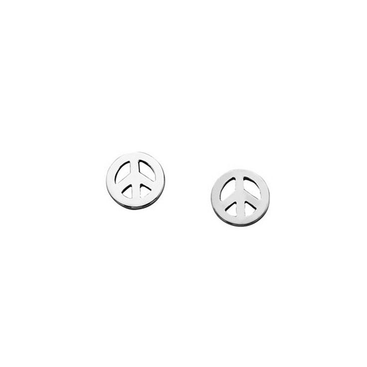 Karen Walker Mini Peace Earrings - Angela Daniel Jewellery