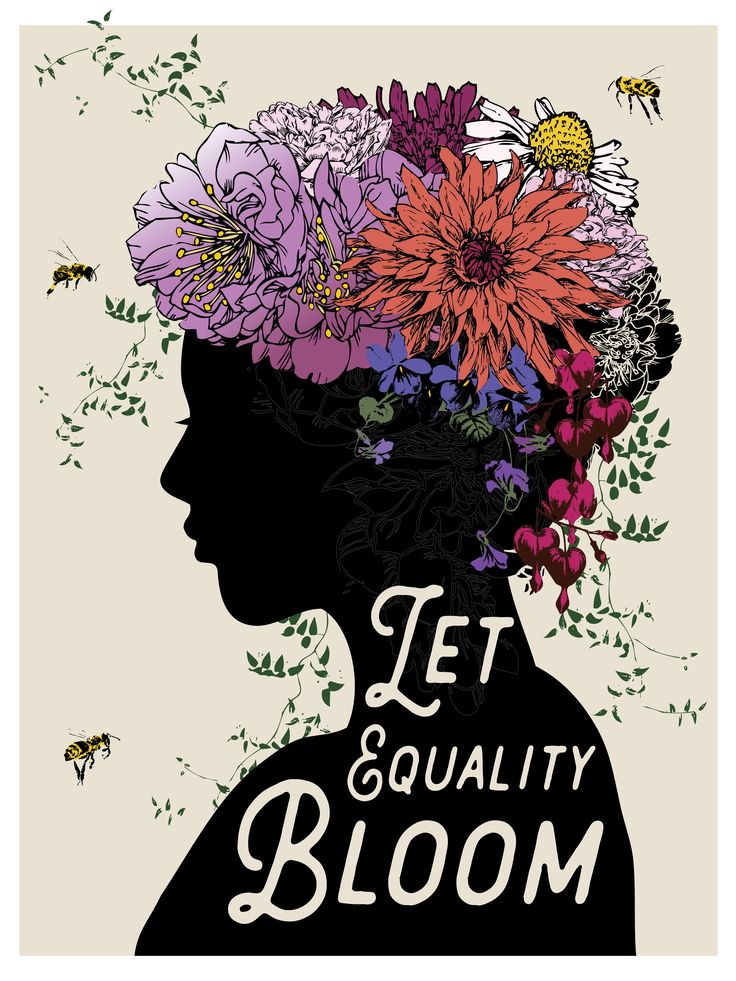 """LET EQUALITY BLOOM"" Poster designed by Brooke Fischer of Notice Designs for the Women's March on Washington 2017. For sale on Zazzle. 18""x24"" $20.30"